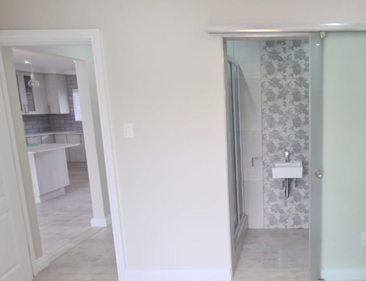 Home renovations (bathroom - after) by residential construction company, Schoeman Trio Builders - Mossel Bay