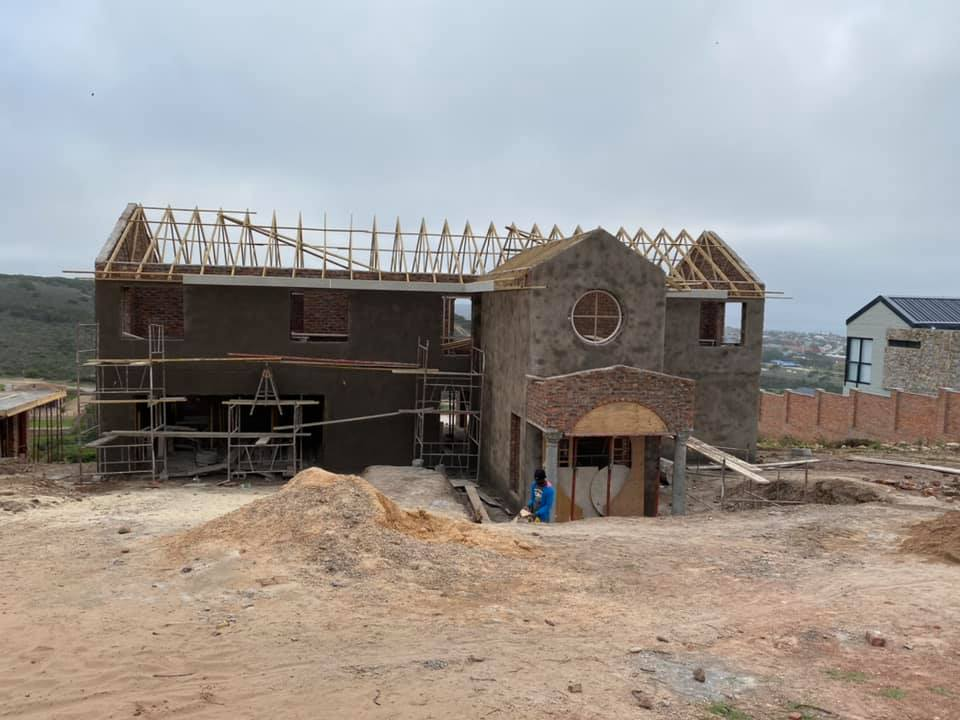 New house construction by Residential Construction Company, Schoeman Trio Builders - Monte Christo, Mossel Bay