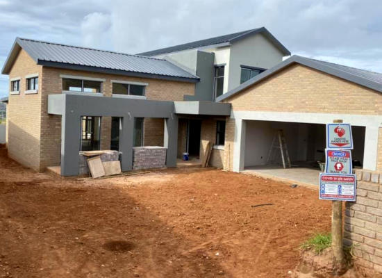 New house construction by Residential Construction Company, Schoeman Trio Builders, Mossel Bay