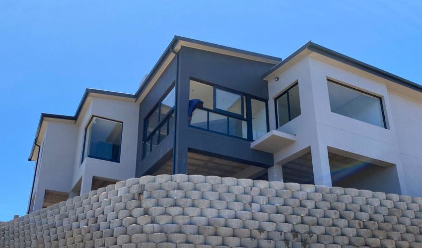 Newly built house by residential construction company, Schoeman Trio Builders, Mossel Bay