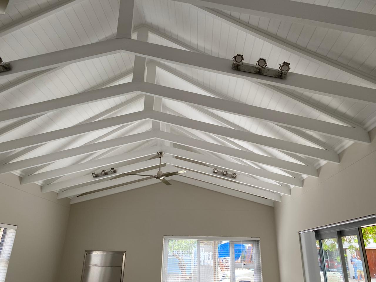 Open beam roof - Newly built ranch-style house - Schoeman Trio Builders, Mossel Bay