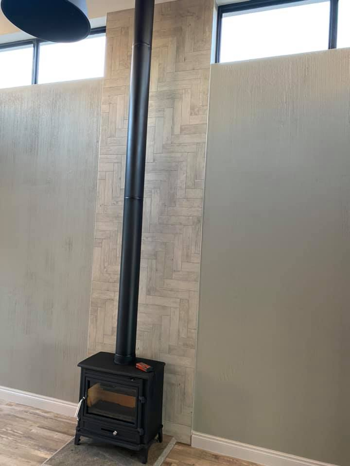 Fireplace - New contemporary face brick construction in the Mossel Bay area by Schoeman Trio Builders