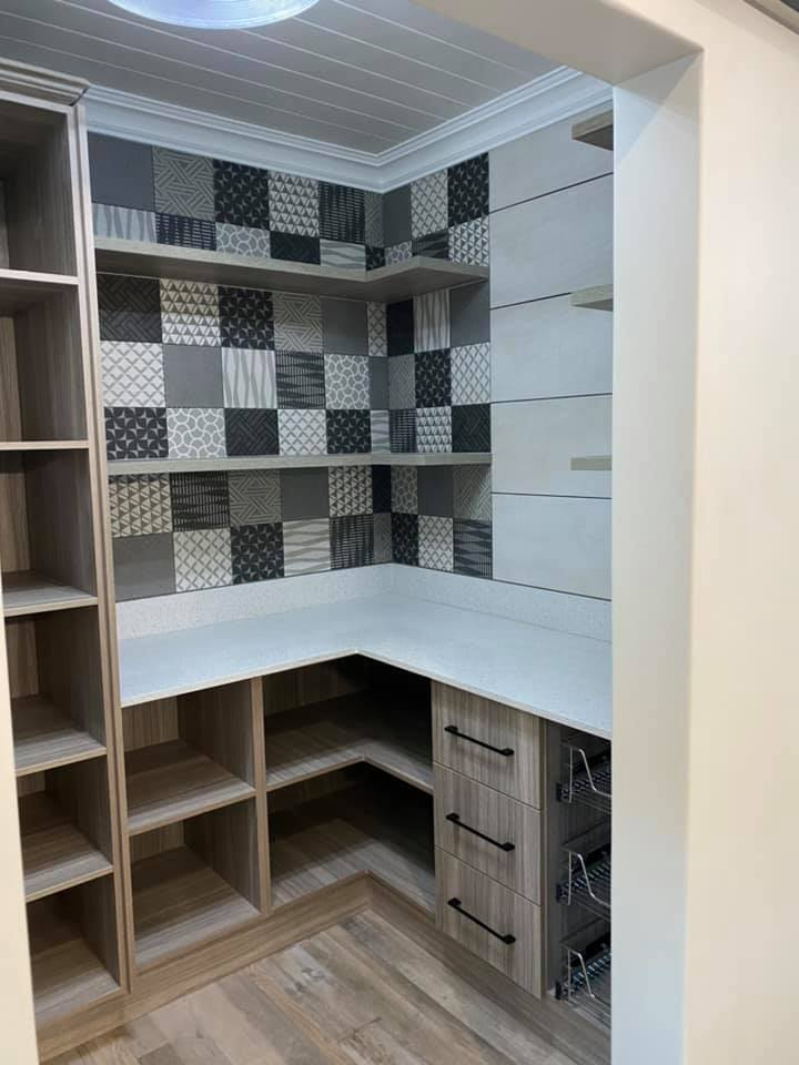 Pantry - New contemporary face brick construction in the Mossel Bay area by Schoeman Trio Builders
