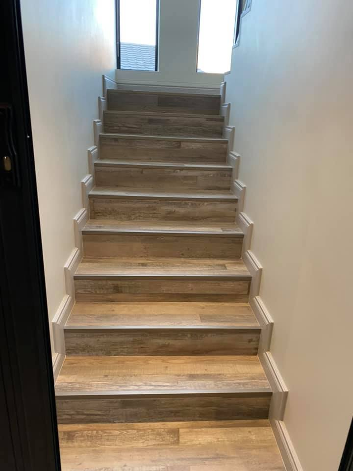 Stairway - New contemporary face brick construction in the Mossel Bay area by Schoeman Trio Builders